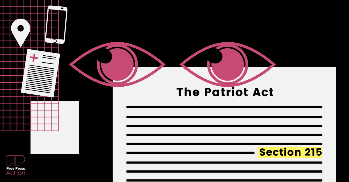 A critical piece of legislation is moving through Congress RIGHT NOW that would add necessary reforms to Section 215 of the Patriot Act.
