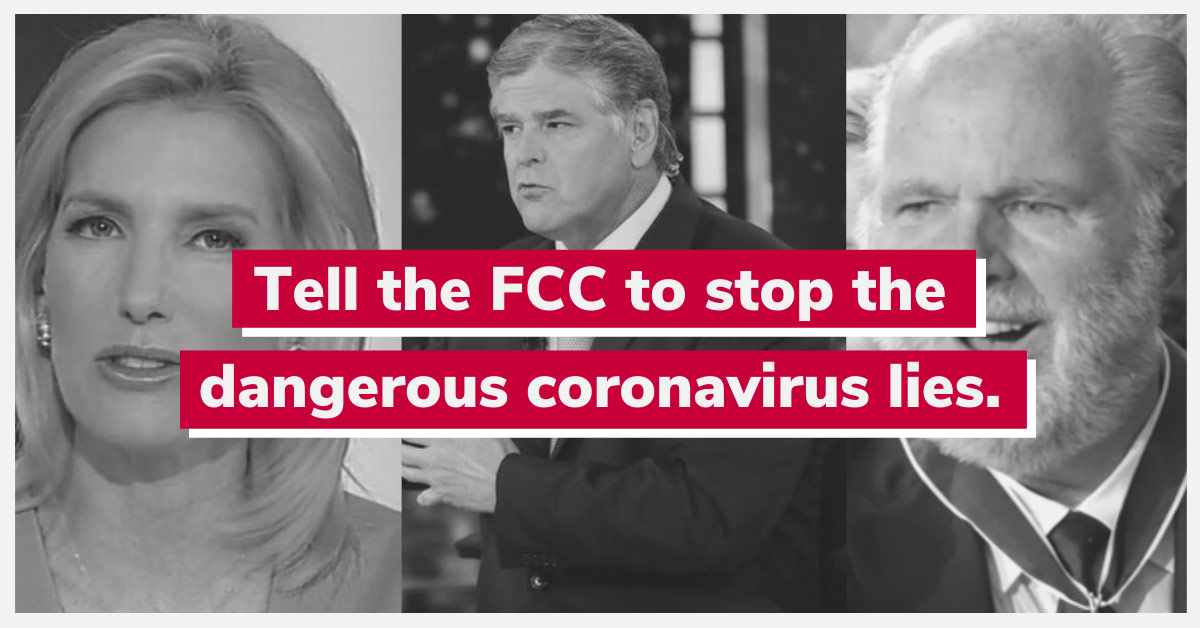 Tell the FCC to stop the dangerous coronavirus lies.