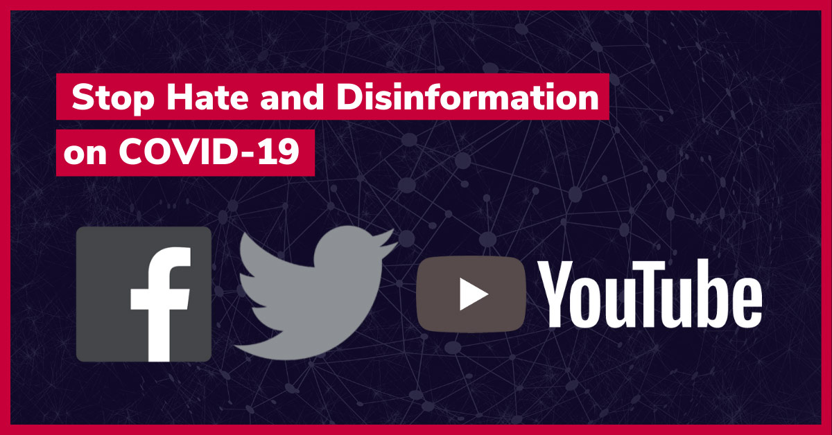 Stop Hate and Disinformation on COVID-19